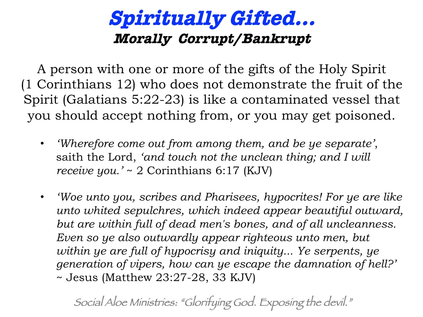 I used to be so focused on the gifts of the Holy Spirit that I paid little to no attention to the fruit of the Holy Spirit. Many people are considered ...